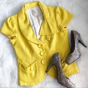 Nanette Lepore • Yellow Short Sleeve Blazer